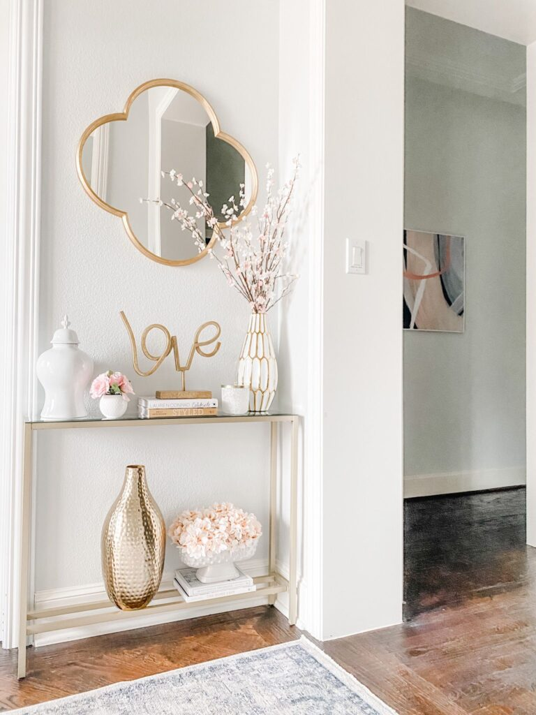 How to Style Entryway Table